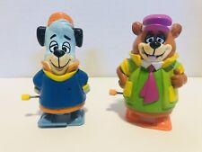 1992 Vintage Yogi Bear & Huckleberry Hound Wind-Up By Hanna Barbera
