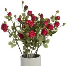 Bouquet of 12 artificial red rose stems