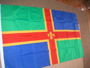 LINCOLNSHIRE FLAG FLAGS 5'X3' BRAND NEW POLYESTER