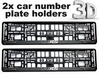 2 x 3D CAR Number Plate Surround Holder Frames BEST FIT for SKODA