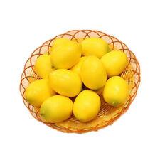 1pc Artificial Fake Lemon Fruit Plastic Fruit Life Like Lemons House Decorative