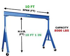 VESTIL FIXED GANTRY CRANE - 4 TON CAPACITY, SPAN 10 FT, HUB 10 FT 1 IN