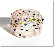Bague en verre murano mouchetée rose bijou mode été lampwork  GLASS RING