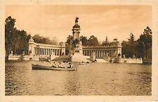Madrid Spain Retiro Monumento a Alfonso XII row boats Postcard