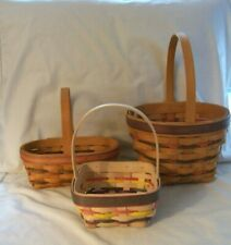 Longaberger Easter Baskets 1996, Small 1997, Small 1998 Lot of 3