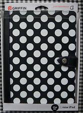 New Griffin Back Bay Folio iPad Case, 2/3/4 & Air 1/2, Black Dot, Purple Stitch