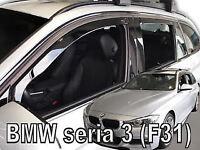 BWM serie 3 F31 estate  5 door 2012-up wind deflectors 4pc set TINTED HEKO
