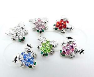 NEW SPARKLE Shimmer Crystals Petite Silver FROG Invisible Elastic Toe Ring