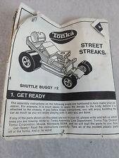 Vintage 1970's Tonka Assembly Line Street Streaks Shuttle Buggy (instrns only)