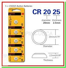 5 Batterie Pile KODAK CR2025 2025 KECR BR 280-205 L12 SB-T14 LF-1/2V 5003L