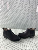 NWB Sperry Top-Sider MAYA Black Leather Pull On Chelsea Boots Women's Size 5