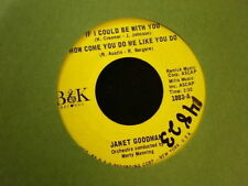 Janet Gordon B&K 1003 If I Could Be With You, How Come You do me Like You Do