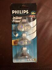 Phillips Indoor Flood 20W 12V MR16 Light Bulb 3 Pack 815245 NIP 046677155285