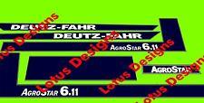 deutz fahr Agro Star 6.11 stickers / decals