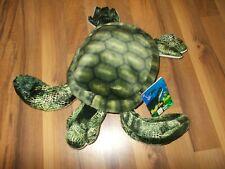 """FIESTA Plush Green  Sea Turtle NWT 13""""  Stuffed Animal Caribbean Hawaii"""