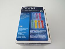 New Microlet Lancets Pack of 100 coloured silicone coated lancets