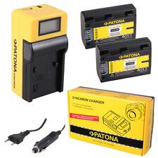 2x Batteria Patona + caricabatteria Synchron LCD USB per Sony DCR-SR72,DCR-SR72E