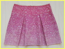 EUC PATRIZIA PEPE PINK OMBRE FLORAL BROCADE PLEATED A-LINE MINI SKIRT 42 4 6