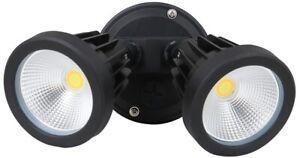 Phonix 30w LED Tri Colour ZIP IP65 Double Head Floodlight No Sensor