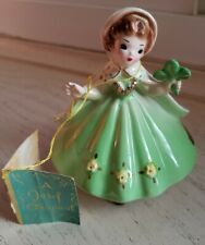 Josef Originals Ireland Shamrock Girl International Series Lime Green Vintage