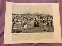 Antique Book Print - Walton-On-The-Naze OR Newquay - UK - c. 1895