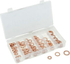 Titan Tools 45217 Copper Crush Washer 110 Piece Assortment with Storage Case