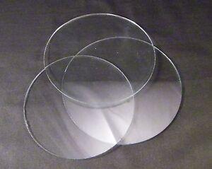 CLOCK FACE GLASS / ROUND FLAT CLOCK  GLASS / REPLACEMENT CLOCK GLASS