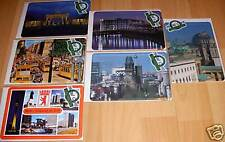 Sheet metal post cards Berlin Set of 6 See attractions RARE Tip Memory Nostalgia