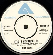 "LINDA LEWIS it's in his kiss/walk about ARISTA 17 uk 1975 7"" WS EX/"