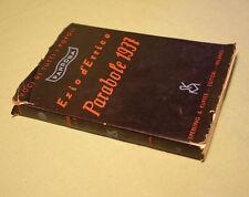 Ezio d'Errico Parabole 1937 1a ed. con sovraccoperta