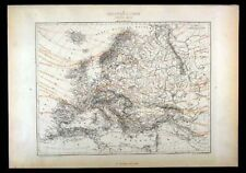 1867 Vuillemin Map - Europe - Agriculture Distribution