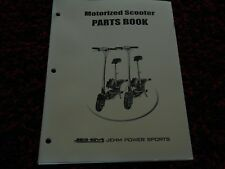 SCOOTER PARTS MANUAL JET JEHM Powersports Minibike cycle atv Electric Motor