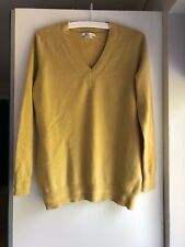 Boden yellow cashmere v neck relaxed sweater size M
