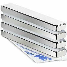 Mikede Strong Neodymium Bar Magnets 4 Pack Heavty Duty Rare Earth Magnets Wit