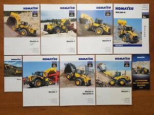 Komatsu Radlader WA 200 bis WA 480 Prospekte Set, Zettelmeyer, wheel loader