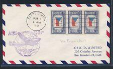 04098) TWA FF Detroit GPO - Frankfurt 1.6.51, MeF Flagge flag