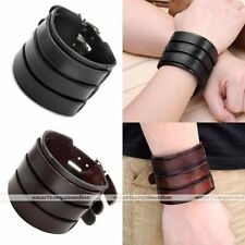 Unbranded Leather Alloy Cuff Costume Bracelets