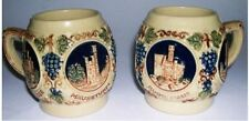 Original Vintage West Germany Gerz - TWO Decorated Cathedrals Cider Mugs.