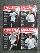 England v russia/Israel/estonia/Croatia x4 2007  football programme bundle