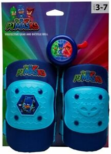 PJ Masks Elbow and Knee Pad Set with Bicycle Bell (Ages 3 - 7) Bell Sports