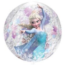 """Disney Frozen Birthday Party Anna Elsa 15"""" x 16"""" Orbz Round Clear Foil Balloon"""