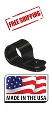 """100 Pack 1/2"""" Plastic Loop Clamps CABLE BLACK NYLON UV RESISTANT WIRE ELECTRICAL"""