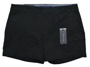 "Tommy Hilfiger #11004 NEW Women Black 5"" Inseam Stretch Hollywood Shorts $49.50"