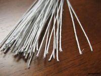 White Florist Stub Stem Floral Wires #14/16/18/20/22/24/26/28/30 GAUGE