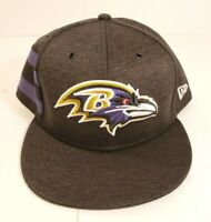 Baltimore Ravens New Era 2018 Sideline Home 9Fifty Adjustable Snapback Hat L/XL