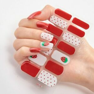 Gel Nail Polish Strips Off Color Street Lacquer Colors Glitter Lacquer Stickers