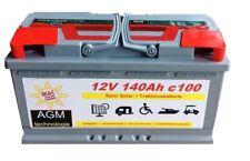 AGM Solarbatterie 12V 140Ah Wohnmobil Camping Versorgung Boot Reha Batterie