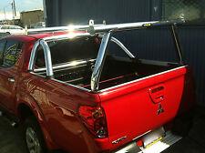 Tradesman rack / Ladder rack set - Mitsubishi Triton - Polished alloy