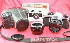 Cámara SLR Pentax Me Super 35mm de cine clásico SMC PENTAX-M. 1:1 .7 F = 50mm Lente.