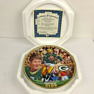 The Bradford Exchange '97 BRETT FAVRE GB PACKERS Authentic Plate & Certificate